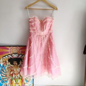 Vintage Betsey Johnson Strapless Dress